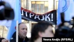 Sa protesta prosvetara u Beogradu, 2014.