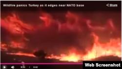 Türkiyədəki NATO bazası yaxınlığında yanğın davam edir