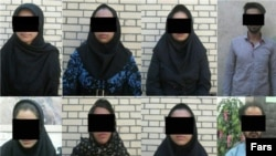 People arrested in Iran's Sistan-Baluchistan province for involvement in modelling . File photo