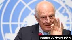 United Nations special envoy for Syria Staffan de Mistura (file photo)