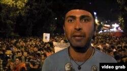 Один из лидеров протестного движения в Ереване Вагинак Шушанян
