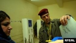 التصويت الخاص في مركز بأربيل