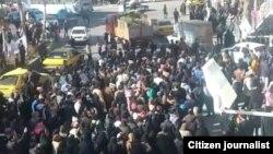 Демонстрация протеста против роста цен в городе Нишгабур, 29 декабря 2017