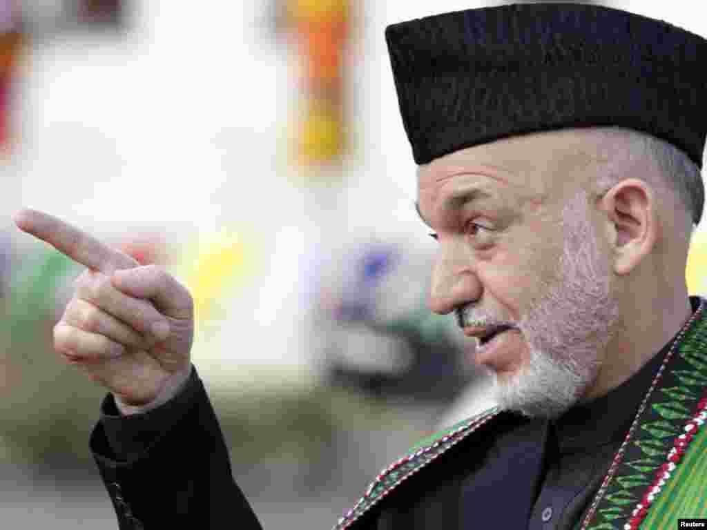 Прэзыдэнт Аўганістану Хамід Карзай.