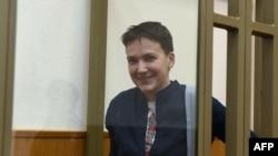 Надежда Савченко в зале суда. 21 марта 2016 года.