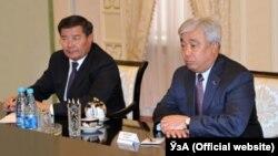 Islam Karimov və Erlan Idrisov
