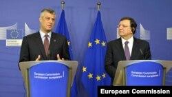 Jose Manuel Barroso i Hashim Thaci