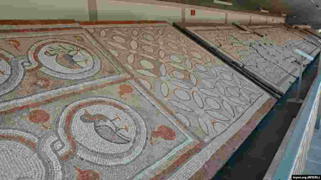 Византийская мозайка, которой в античные времена был покрыт пол греческого храма