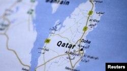 Катар мамлекетинин картасы.