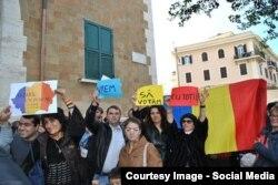 Избиратели, пришедшие проголосовать в консульство Румынии в Риме