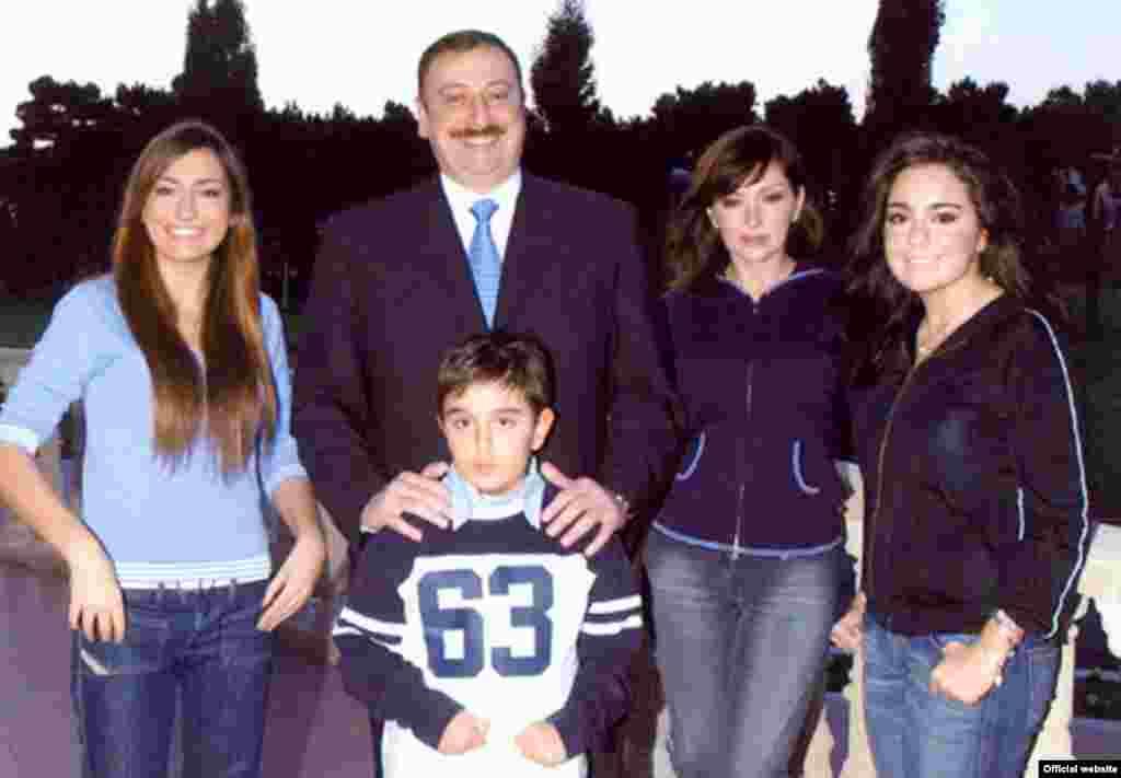 Президентская семья Алиевых.