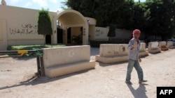 Pamje e Konsullatës së mbyllur amerikane në Bengazi të Libisë, pas sulmit më 11 Shtator 2012