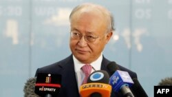 "The head of the IAEA, Yukiya Amano, said he saw ""no radical change"" in Iran's nuclear program."