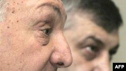 Совместную пресс-конференцию Эдуард Кокойты и Сергей Багапш провели в Москве
