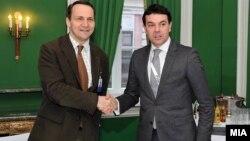 Министерот за надворешни работи Никола Попоски се сретна со својот колега, полскиот министер за надворешни работи, Радослав Шикорски на маргините на Конференцијата за безбедност во Минхен.