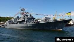 Фрегат «Гетьман Сагайдачний» в порту Одеси (архівне фото)