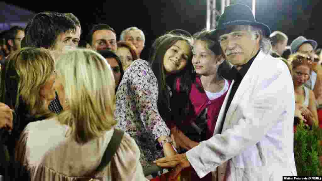 Rade Serbedžija sa publikom SFF, 12. juli 2012.
