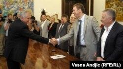 Konsultacije predsednika Srbije sa članovima Srpske napredne stranke