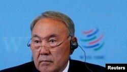 Қазақстан президенті Нұрсұлтан Назарбаев. Женева, 27 шілде 2015 жыл.