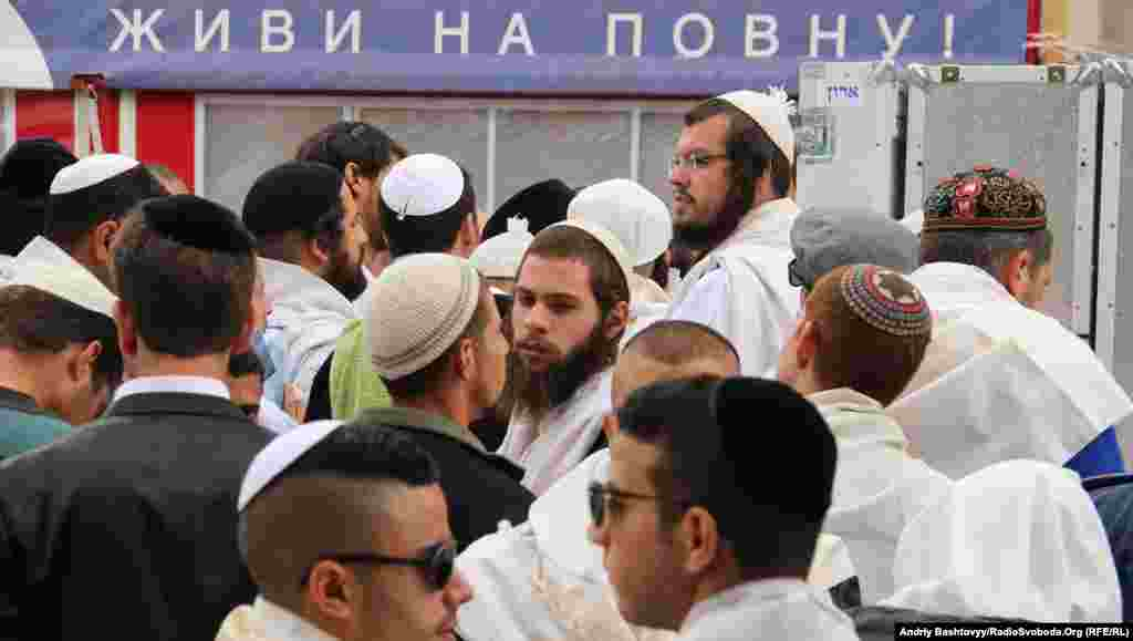 Some 30,000 pilgrims -- a record number -- are visiting Uman for the holiday.