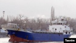 Azerbaijan rescued all nine crew members of an Iranian cargo vessel on Friday before it sunk in the Caspian Sea, Azerbaijan's state maritime agency said on Friday.