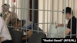 Ильдар Сахапов и Федор Басимов на суде в Таджикистане