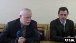 Леў Марголін і Анатоль Лябедзька, архіўнае фота