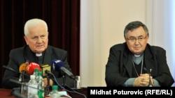 Vinko Puljić i Franjo Komarica