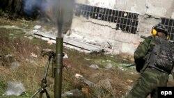 Русия яклы сепаратистлар Донецки һава аланы тирәсендә. 9 октябрь 2014