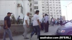 Aşgabatda protest pursaty