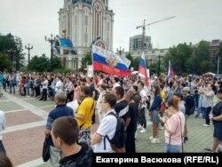 Митинг за честные выборы в Хабаровске