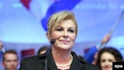 Хорватияның жаңадан сайланған президенті Колинда Грабар-Китарович.