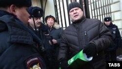 Сергій Мітрохін під час затримання, Москва, 26 січня 2015 року