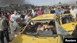 Один з двох автомобілів, які містили вибухівку, Дамаск, 10 травня 2012 року