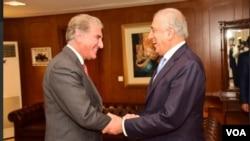 خلیلزاد با شاه محمود قریشی نیز دیدار کرد