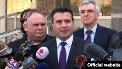 Архивска фотографија: Изјава за медиуми на претседателот на СДСМ Зоран Заев