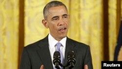 أوباما متحدثاً عن الإتفاق النووي الإيراني
