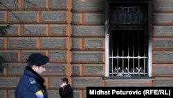 Izgoreni dio zgrade Predsjedništva BiH