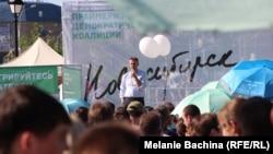 Алексей Навальный на встрече с избирателями в Новосибирске