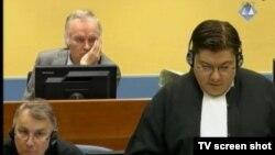 Mladić u sudnici 25. aprila 2013.