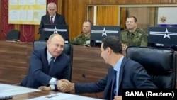 Президент России Владимир Путин (слева) и президент Сирии Башар Асад. Дамаск, 7 января 2020 года.