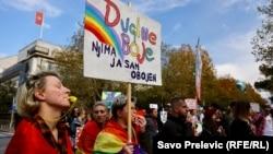 Архивска фотографија: Парада на гордоста во Црна Гора во 2018