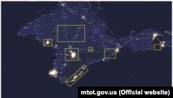 Уровень освещенности Крыма в 2016 году