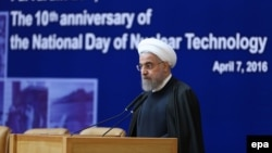 "Iranian President Hassan Rohani advocated ""moderation"" and ""interaction"" with Iran's neighbors in an address on April 7."