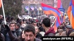 Ermənistan müxalifətinin etiraz askiyası, Yerevan, 18 fevral 2011