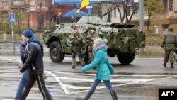 Donetsk regionynyň Mariupol şäheri, 29-njy noýabr, 2015