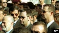بشار اسد (راست) در کنار برادرش ماهر