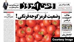 یکی از شمارههای روزنامه وطن امروز