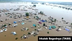 Затопленная окраина Иркутска, июнь 2019 года