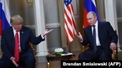 دیدار دونالد ترامپ و ولادیمیر پوتین روسایجمهور آمریکا و روسیه در هلسینک